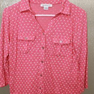 Liz Claiborne button front shirt